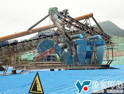 湖南莽山水库台时150吨砂分选现场