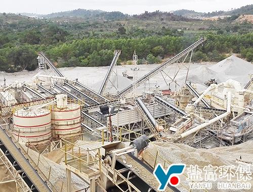 印度泥西亚骨料制砂生产线现场